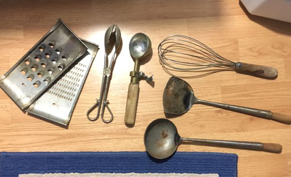Vintage antique kitchen gadgets cooking utensils for Sale in ...