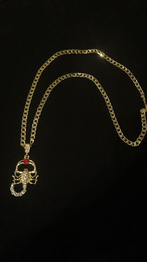 14k plated cuban style with charm for Sale in Orlando, FL
