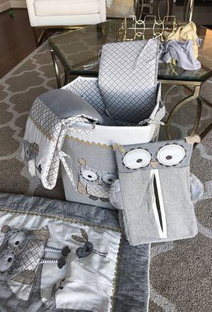 Baby owl crib set for baby boy for Sale in Ashburn, VA