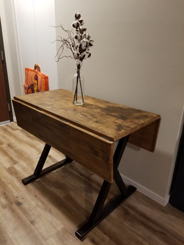 40 Square Drop Leaf Rustic Dining Table Threshold For Sale In