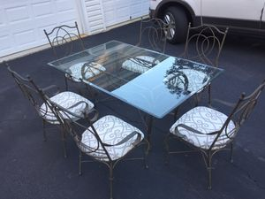 Wrought iron table and six chairs for Sale in Centreville, VA