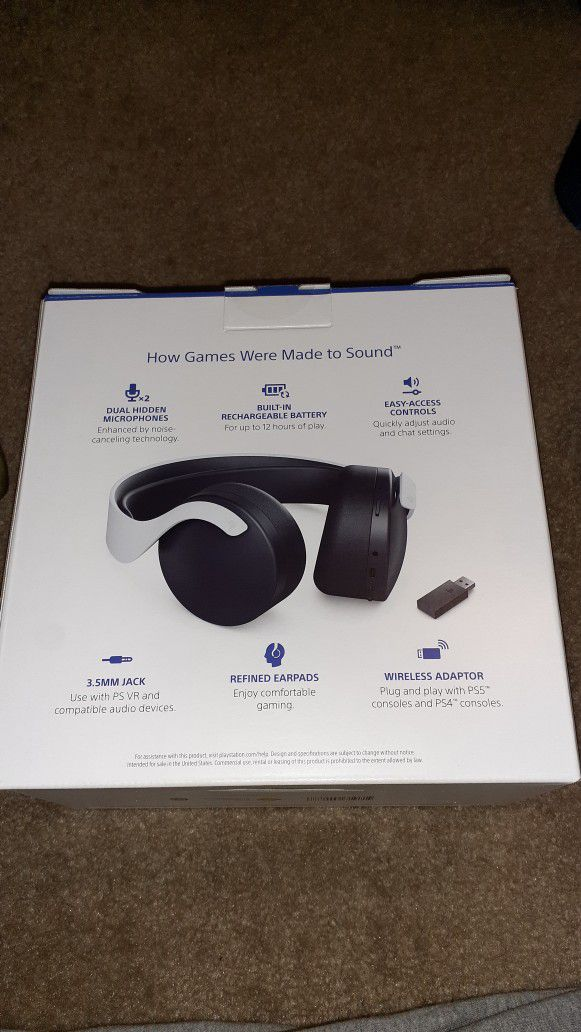 Sony PS5 3D Pulse Headsets
