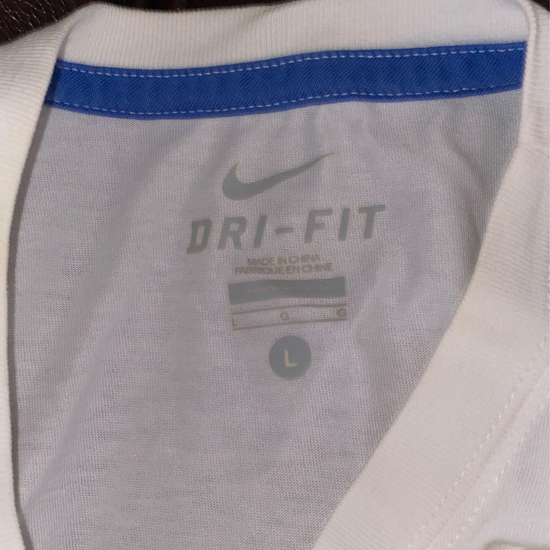 Nike dri-fit kobe graphic tee (white/blue)(L)