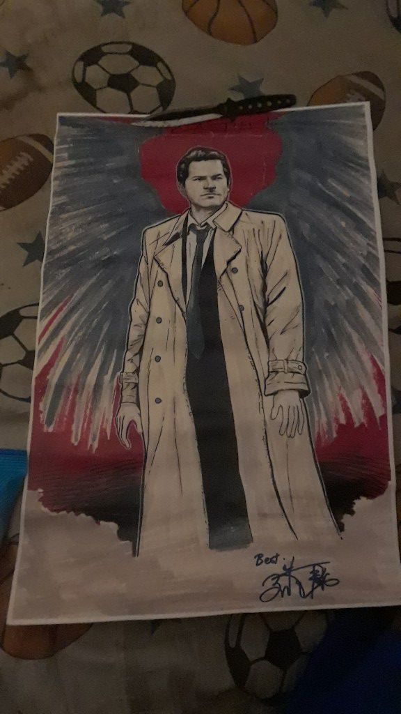 Hand painted castiel, from supernatural