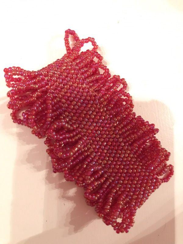 Small Red Beaded Bracelet