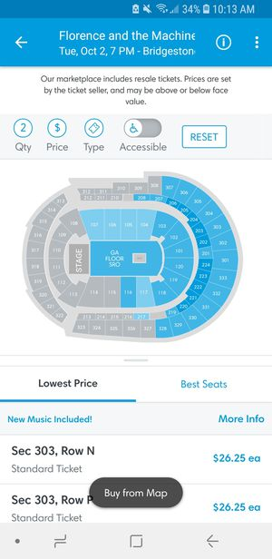 Florence and the Machine Oct 2nd, Nashville Tickets for Sale in Nashville, TN