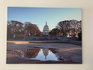 US Capitol Puddle Reflection for Sale in Washington, DC