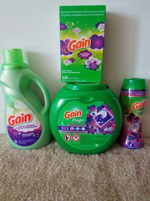 Gain Moonlight breeze laundry detergent bundle - $24 price firm for Sale in Rockville, MD
