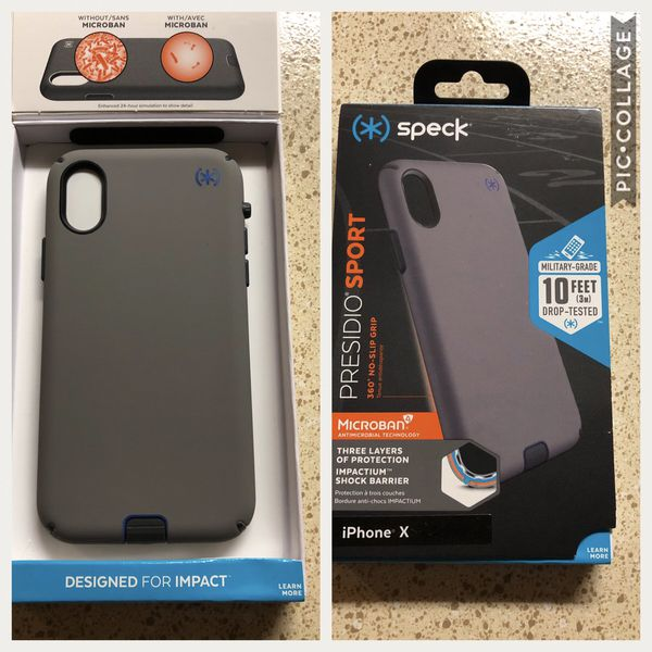 timeless design 09a0b 33c8f Speck - Presidio SPORT Case for Apple® iPhone® X - Gray/cobalt blue for  Sale in Houston, TX - OfferUp