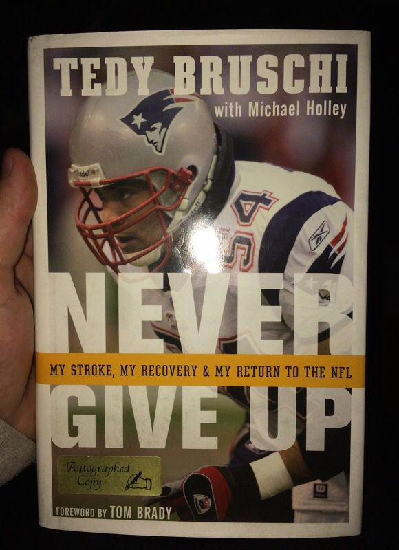 Autographed Tedy Bruschi Autobiography For Sale In Greenville Nc