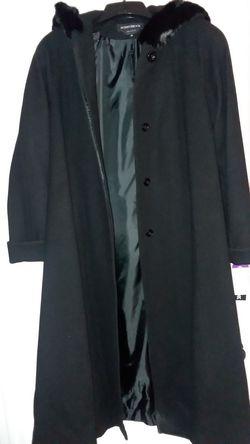 Women's new long dress coat size 10 donny brook designer 100% wool
