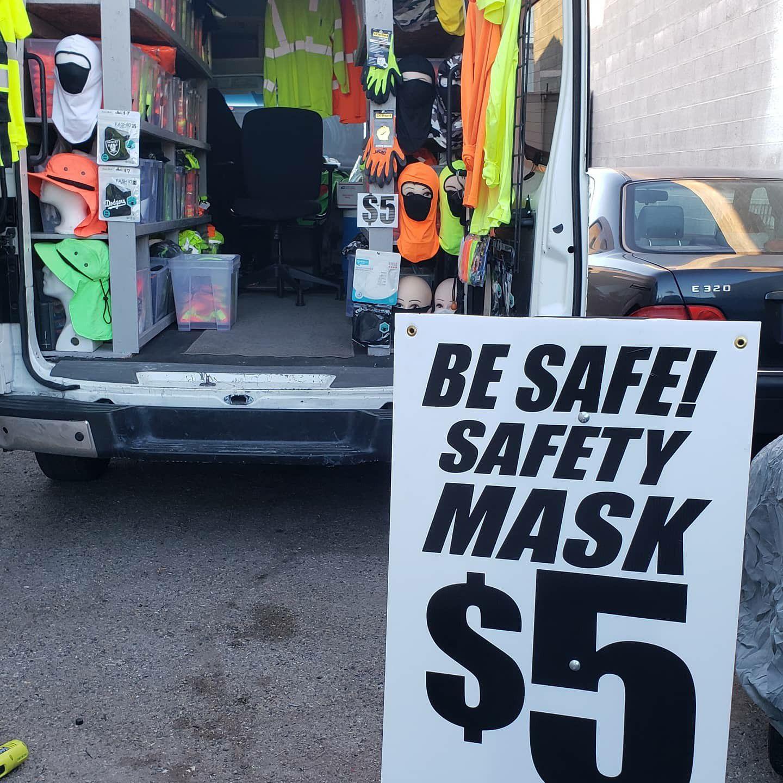 Safety mask vest and shirts