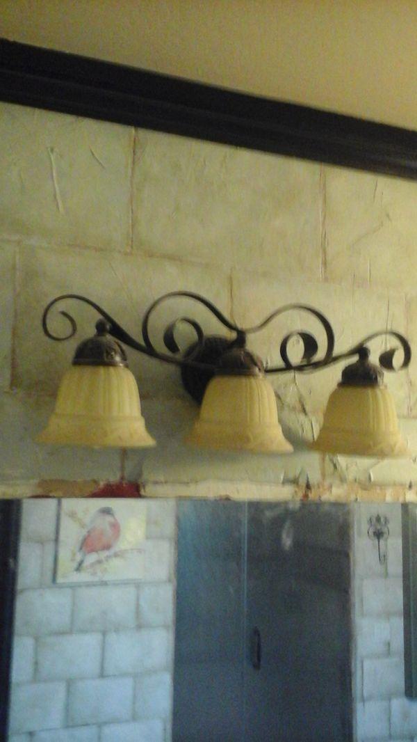 Set of 3- Orb oil rubbed bronze 3 - 3 light vanity lights for Sale ...