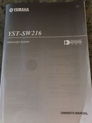 Yamaha Yst Sw216 45 Watt Powered Subwoofer For Sale In East
