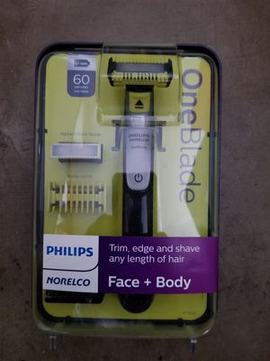 Photo New One Blade Philips Norelco Face Body Trim Edge Shave