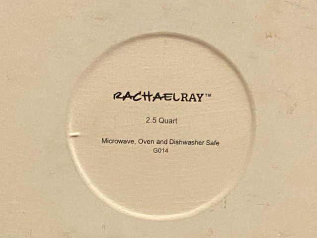 (New)Rachael Ray Stoneware 2.5Quart Casseround Covered Round Casserole, Orange