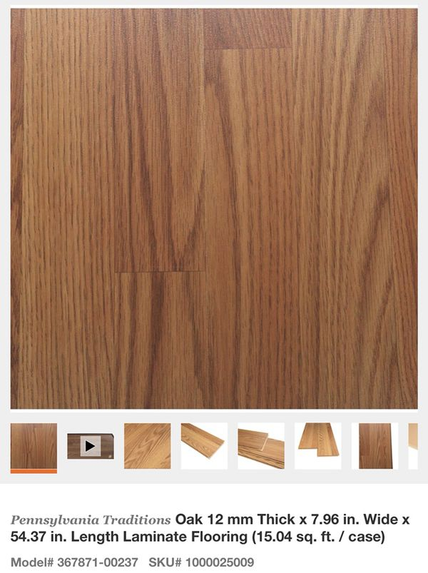 Pennsylvania Traditions Oak 12 Mm Thick X 7 96 In Wide 54 37 Length Laminate Flooring General Glendale Az Offerup