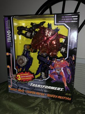 1998 New in Box Collectible Transformers Evil Predacon Rampage action figure for Sale in Ashburn, VA