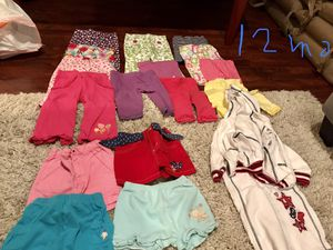 12 months girl clothes for Sale in Fairfax, VA