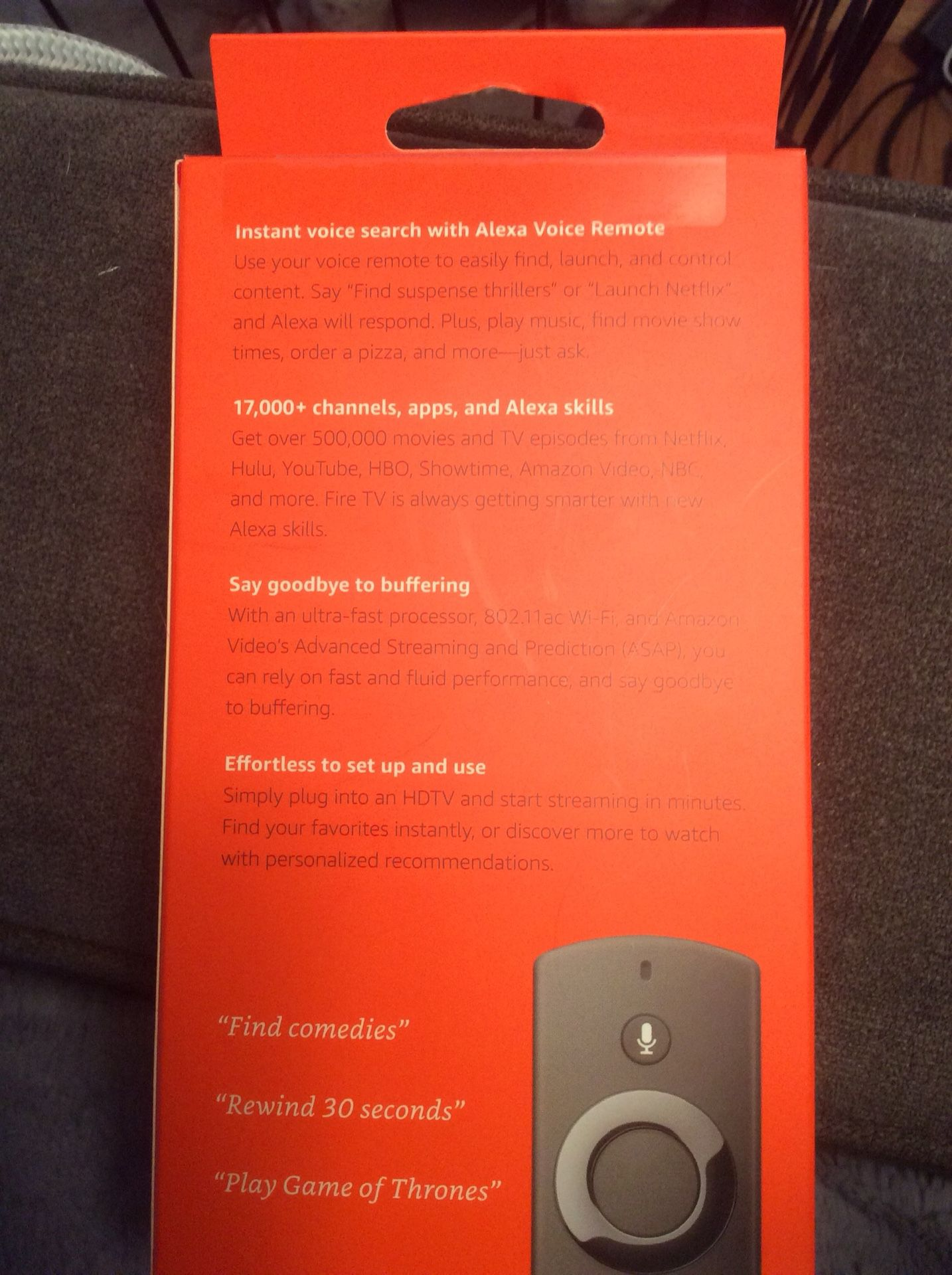 Amazon Fire TV with Alexa Voice Remote (Second Generation)