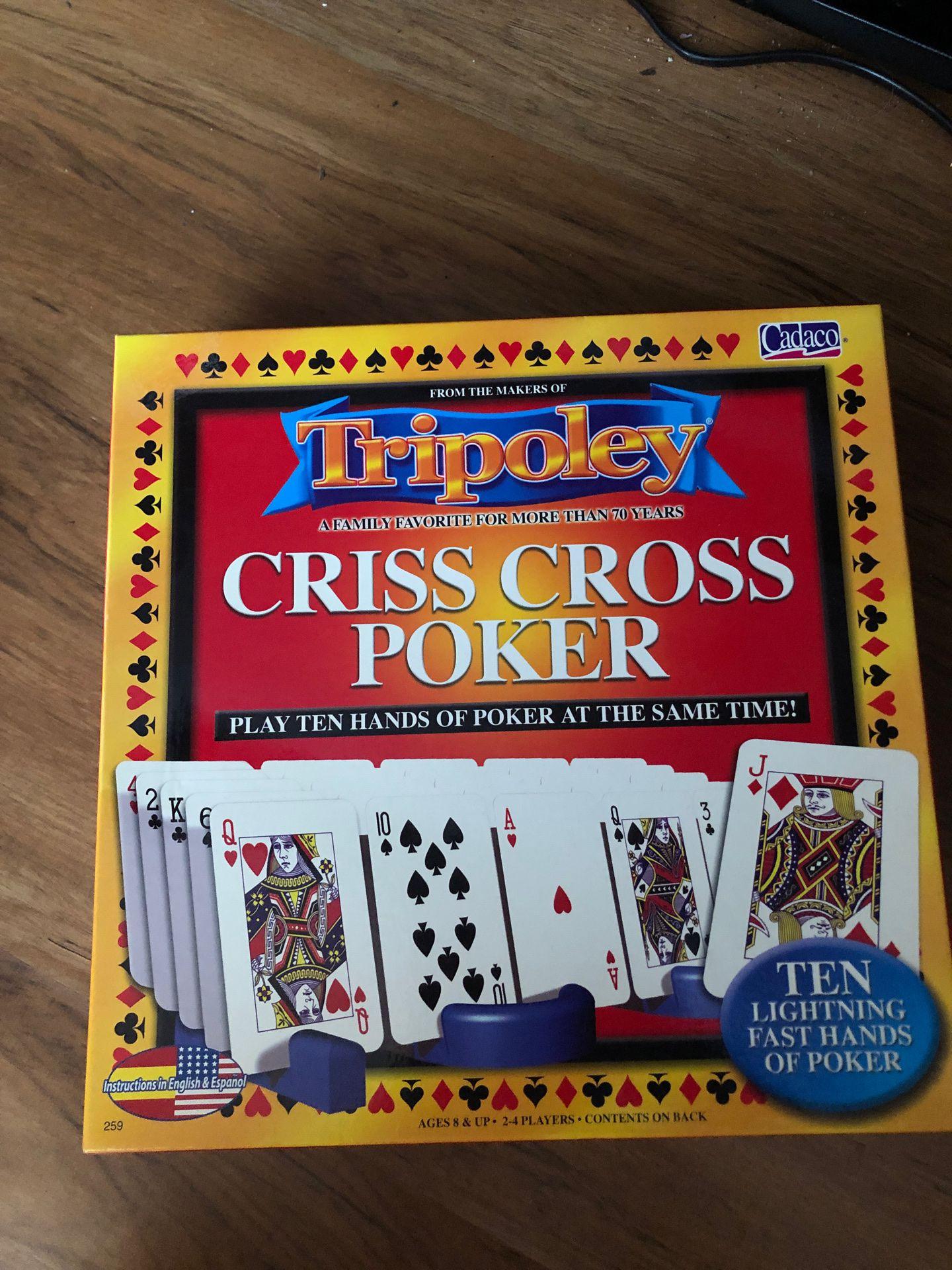 Cross Cross Poker board game