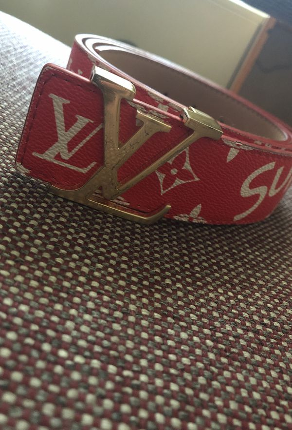 a479b82bada8 Louis Vuitton Red Supreme Belt for Sale in Boca Raton