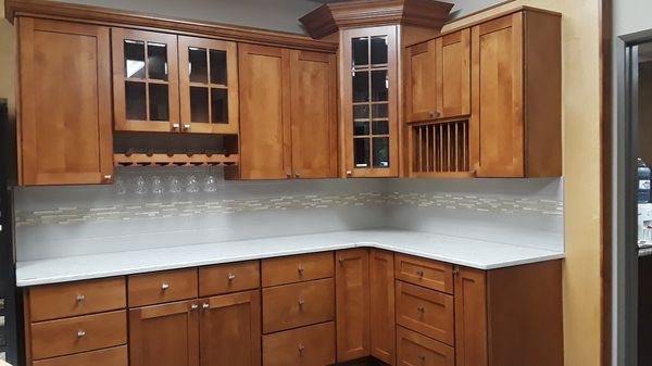 Pacific Red Alder Base And Wall Kitchen Cabinets For Sale