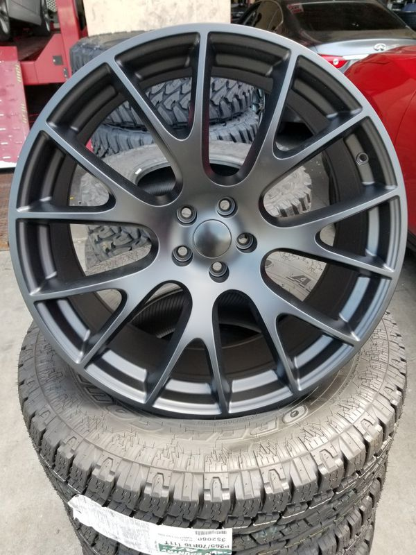New Dodge Charger >> 22x9.5 and 22x11.5 dodge charger hellcat replica wheels ...