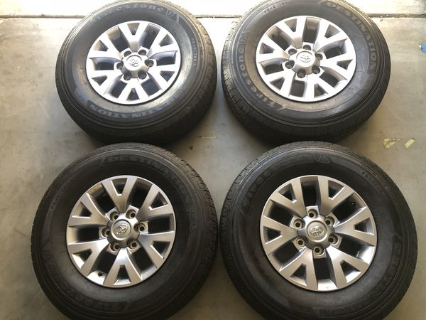 Factory Slightly Used Toyota Tacoma 16 Inch Wheels And Tires With A Firestone 245 75 95 Tread Left Asking 525
