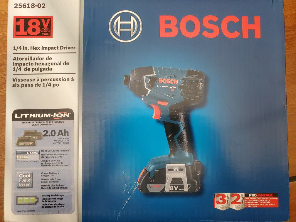Bosch 1/4 Impact Driver Kit Cordless