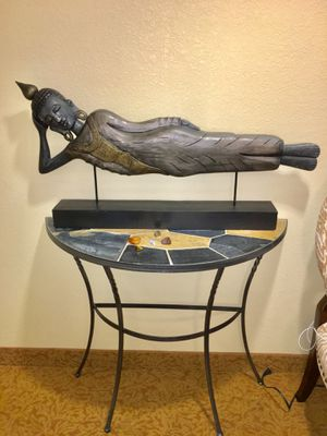 Iron & Slate Top Half Moon Table for Sale in MD CITY, MD