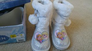 New in box Disney Frozen Anna Elsa glittery boots. for Sale in Rockville, MD