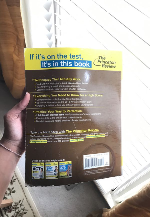 Ap world history princeton review exam prep book books magazines ap world history princeton review exam prep book books magazines in cumming ga offerup gumiabroncs Images