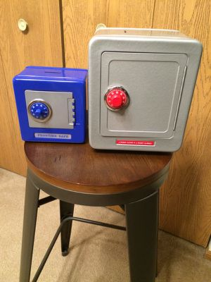 2 Bank Combination Safes, 1 Silver & 1 Blue for Sale in Dublin, OH