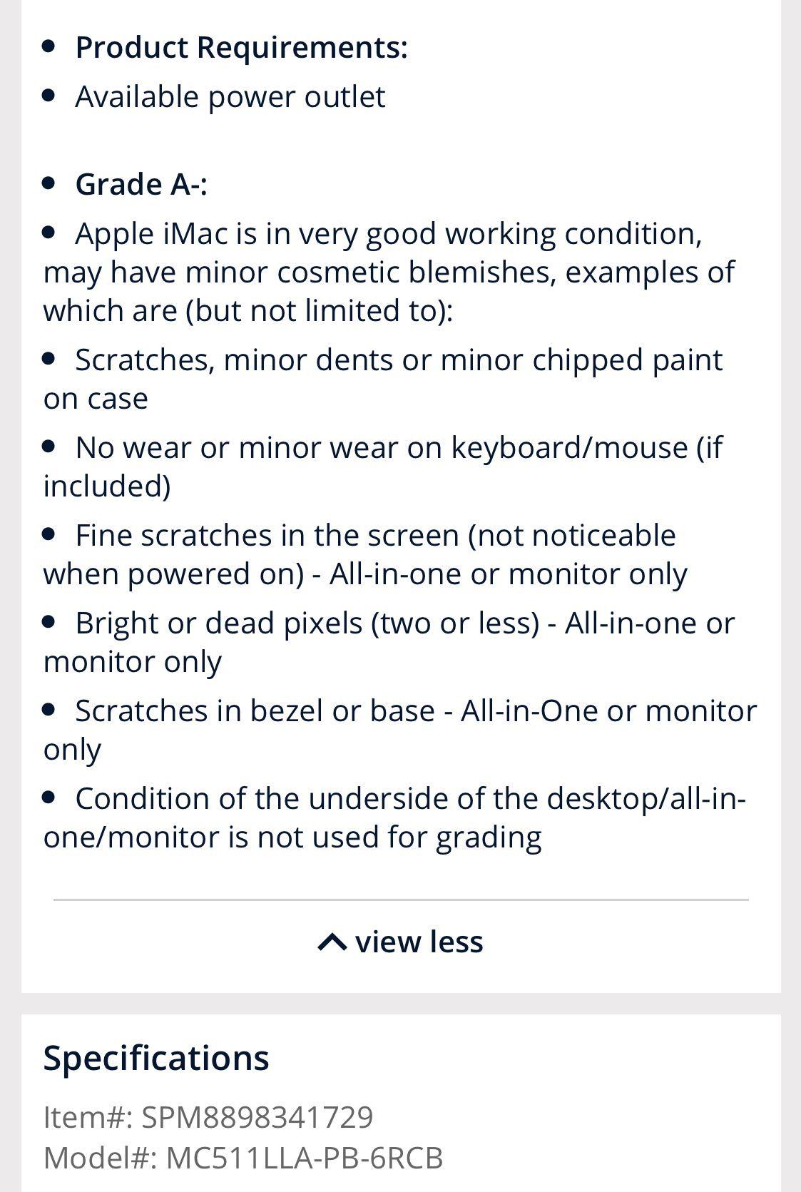 iMac desktop computer