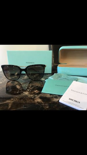 Tiffany sunglasses black blue for Sale in Springfield, VA