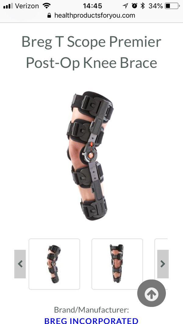 3584ed2282 Breg T scope premier knee brace for Sale in Durham, NC - OfferUp