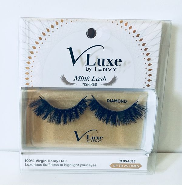 "5395606517d Brand new Kiss I-envy Faux Mink V-Luxe False Eyelashes Lashes Virgin Remy  Hair ""Diamond"""