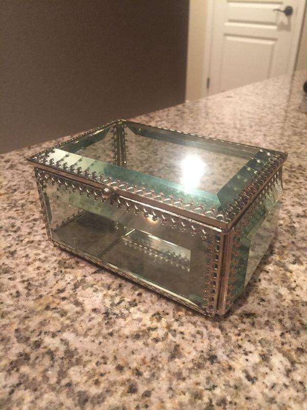 Nicole Miller Jewelry Box Delectable Nicole Miller Glass And Silver Jewelry Box Jewelry Accessories