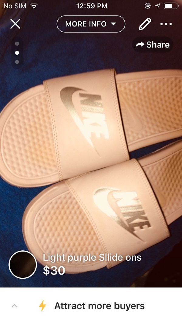 1965b618a Light purple Nike slides for Sale in Syracuse