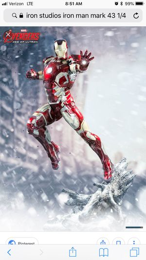 Iron studios iron man mark 43 1/4 scale statue not sideshow hot toys for  Sale in Los Angeles, CA - OfferUp
