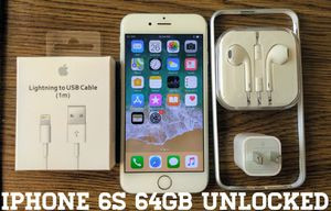 Silver Iphone 6S (4.7') UNLOCKED 64GB w/ Accessories for Sale in Falls Church, VA