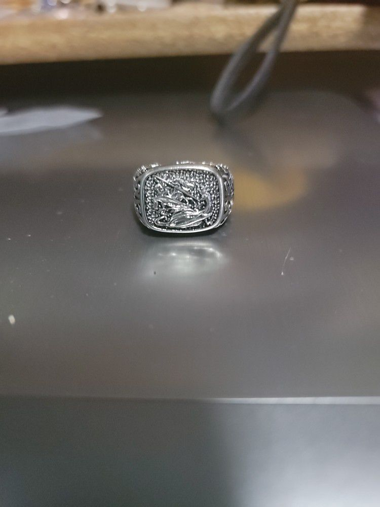 Men's Size 10 Stainless Steel Ring