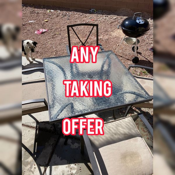 Outdoor Table Four Chairs Barbecue For Sale In Las Vegas