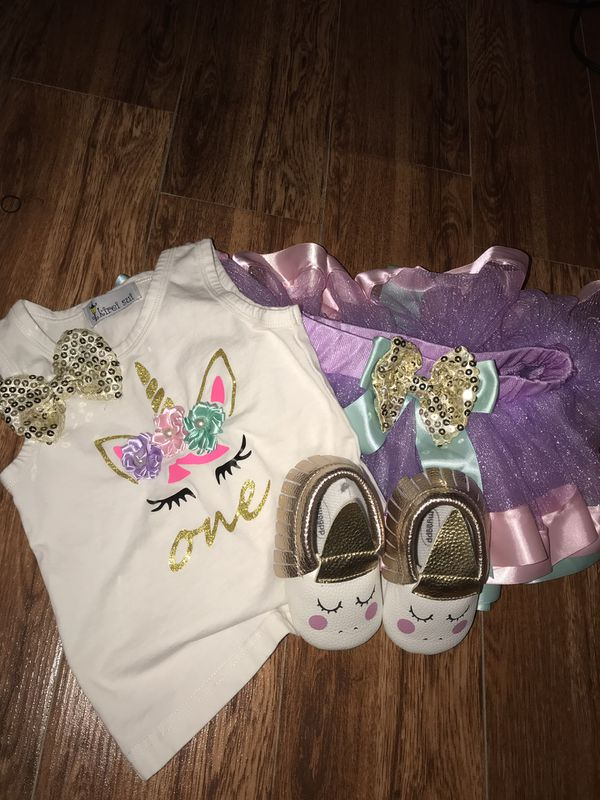 One Year Old Unicorn Outfit For Baby Girl For Sale In