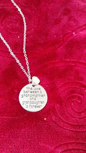 Grandmother/granddaughter necklace for Sale in Salt Lake City, UT
