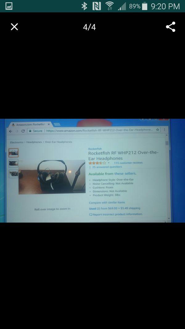 Rocketfish wireless headphones for Sale in Pocono Summit, PA - OfferUp