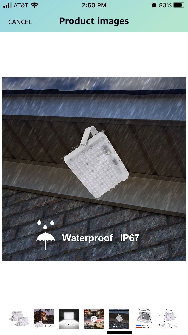 2 Pack 50W LED Flood Light Outdoor 6000K 5000lm IP67 Waterproof Super Bright LED Security Light Landscape Floodlight for Outdoor Playground Garden Yar