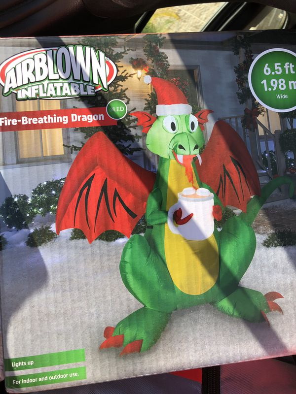 Inflatable Christmas Dragon.Brand New 6 5 Feet Inflatable Christmas Dragon With Fire Decoration For Sale In San Jose Ca Offerup