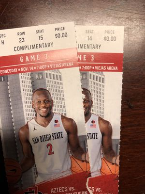 SDSU vs Texas Southern Basketball Tickets for Sale in San Diego, CA